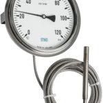 thermomètre avec capillaire et pince pour le montage du panneau affleurant