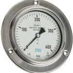 compensated subsea gauge with front flange