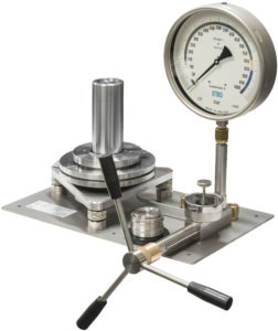 deadweight tester DOS001 with test pressure gauge