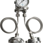 double diaphragm differential pressure gauge with capillary and seals