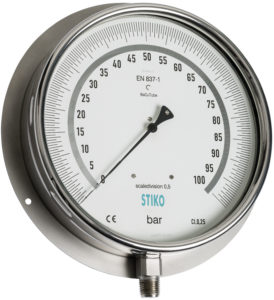 test pressure gauge with back flange