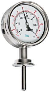 thermometer with sanitary triclamp connection